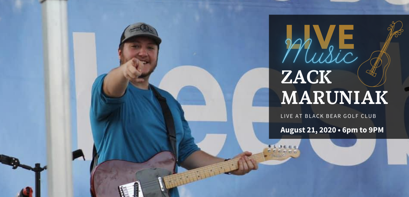 Zack is Back 🎶 Live at Black Bear September 17th